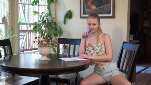 Lily Rader very small tits female fun with toys solo