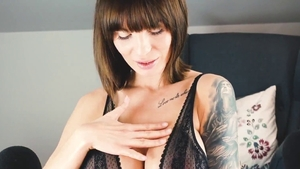 Hard nailining with tattooed mature