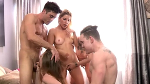 Hard pounding together with Anya Olsen Ashley Fires