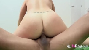 Inked european MILF blowjobs at the castings