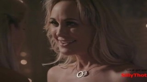 'SillyThots​.​com - Two sleazy blonde MILFs Bring Each Other To orgasm'