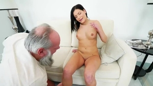 Pussy sex accompanied by small boobs babe