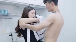 Real sex along with super cute korean babe