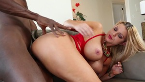 Brooklyn Chase in lingerie interracial fucking
