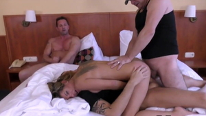Russian double blowjob at the audition