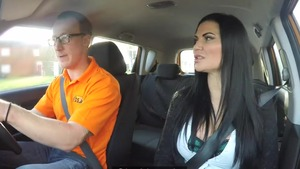 Hard pounding starring big boobs driver Jasmine Jae