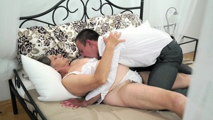 The best sex in company with hairy MILF