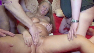 Big boobs Rosella Extrem group sex cum swallow