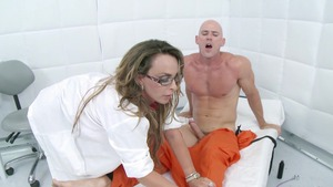 Goes wild on cock in the jail starring MILF Holly Halston