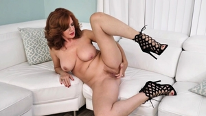 Large boobs redhead Andi James softcore fingering in HD