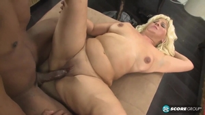 Huge boobs & chubby MILF ass fucking at castings