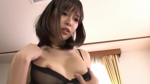 Tsukasa Aoi in tight stockings fetish sex with toys
