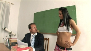 Fingering escorted by big tits teacher