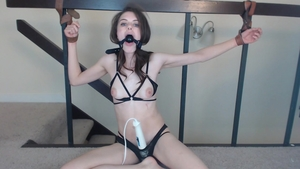 Skinny girl has a passion for BDSM HD