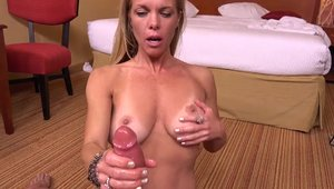 Young MILF licks big cock at the party