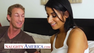American in sexy lingerie blowjob