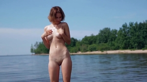 Teasing together with skinny model wearing bodysuit outdoors