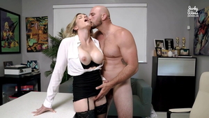 Upskirt hard slamming in company with Cory Chase