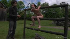 Small boobs girl domination BDSM outdoors