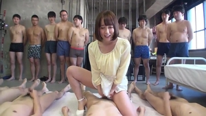 Japanese group sex at castings in HD