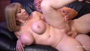 Big boobs Sara Jay rough pussy fucking after interview