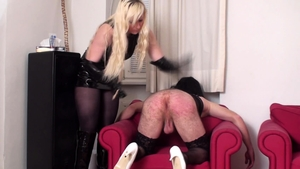 German brunette gets a buzz out of femdom HD