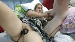 Very hawt blonde haired dildo fun