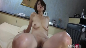 Massage hairy asian in sexy lingerie