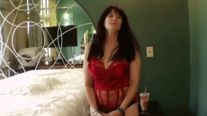 Creampie with pregnant granny in sexy stockings at castings