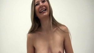 Bubble butt czech babe orgasm at the castings
