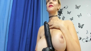 Large boobs horny spanish mature pussy fuck on live cam