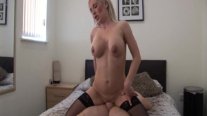 Good fuck starring large tits blonde babe