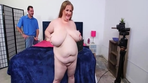 Chubby BBW really likes hard slamming