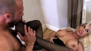 Fucking in company with blonde hair Veronica Avluv