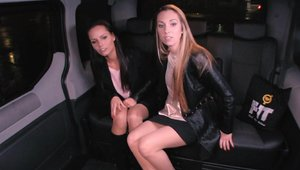 Fucked In Traffic - Nailed hard in the car escorted by babe