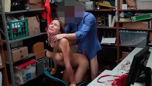 Shop Lyfter - Begging in the backroom with blonde haired