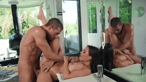 Reality Kings - Shaved cougar Abigail Mac pussy eating