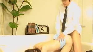 Plowing hard in company with asian amateur