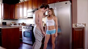 Babe Sydney Cole moaning in the kitchen