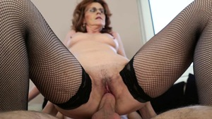 Good fuck granny wearing fishnets