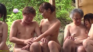Sloppy fucking in company with very hot japanese amateur
