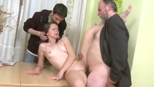 Cuckold very small tits russian