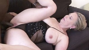 Busty blonde haired dick sucking HD