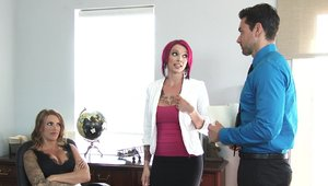 Naughty Office: MILF Juelz Ventura drilled on the table