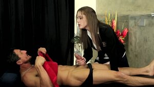 Fantasy Massage: Penny Brooks and Tommy Gunn rammed hard