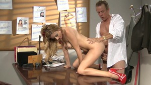 Hard rough sex between perfect mature Lexi Belle in office