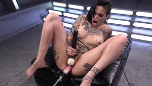 Kink - Inked babe toys action in HD