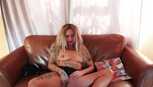 Angel Smalls british inked amateur sex with toys solo