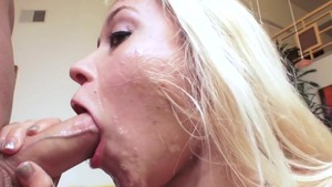 Marsha May gonzo getting a facial sex tape