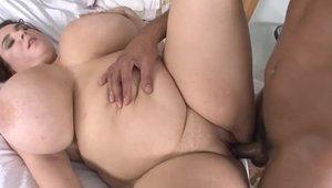 Sex scene in the company of busty BBW